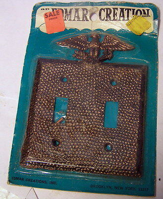 ** Vintage -- EDMAR CREATIONS -- COPPER with EAGLE on TOP - MUST C -outlet cover