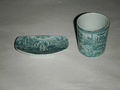 2 Piece Mini Cup & Tray Nymolle Art Faience Hoyrup Denmark Limited Edition 4006