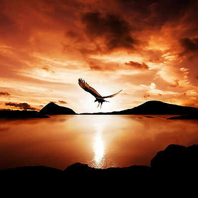 Australian sunset eagle lake reflection art landscape print modern photo