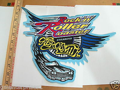 Rockin Roller Coaster Aerosmith Jacket Patch Collector Item (EX LG)