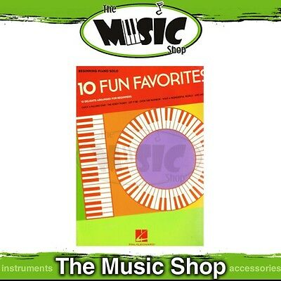 New 10 Fun Favorites Music Book for Beginning Piano Solo