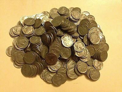 Mix Lot of Ten(10) Full/Partial Date Buffalo Nickels