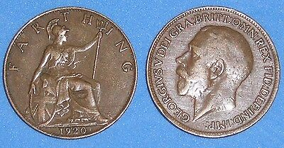FARTHING GEORGE V 1915-1936 DATE OF YOUR CHOICE FROM JUST 99p EACH FREE UK P&P