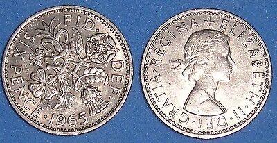 SIXPENCE ELIZABETH II 1954-1967 DATE OF YOUR CHOICE ONLY 99p EACH FREE UK P&P