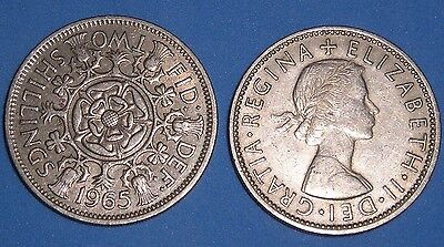 TWO SHILLING ELIZABETH II 1953-1967 DATE OF YOUR CHOICE FROM 99p FREE UK P&P