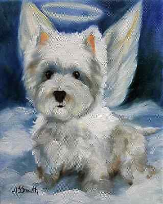 Westie Angel (M Smith) Garden Flag Free Ship Usa Rescue