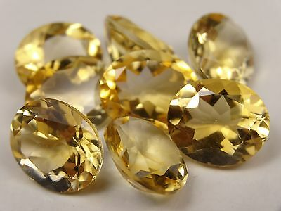 8 x OVAL CUT / FACETED CITRINE, approx 10x12mm (within 0.2mm), 34cts