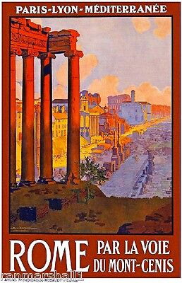 Rome Italia Italy Vintage European Travel Advertisement Poster Picture Print