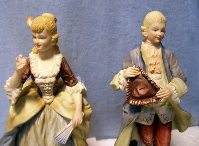 ** Vintage GORGEOUS - NAPCOWARE - Napco - 7256 - Victorian Couple Figurines -