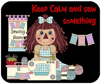 Mouse Pad, Thick Mousepad-Keep Calm, Sew Something