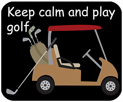 Mouse Pad, Thick Mousepad-Keep Calm, Play Golf