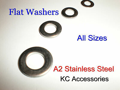 Stainless Steel Flat Washers Form A Thick A2 Grade1.6 2, 2.5, 3, 3.5 4, 5 6, 8mm