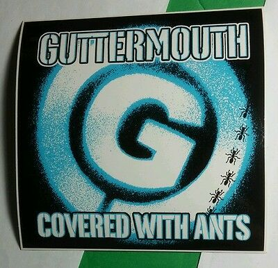 Guttermouth Covered With Ants Blue Music Sticker