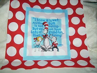 """Pillow COVER 16"""" Dr. Seuss Cat in the Hat good fun #2"""