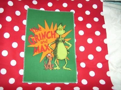 """Pillow COVER 16"""" Dr. Seuss Grinch and Max red #2"""