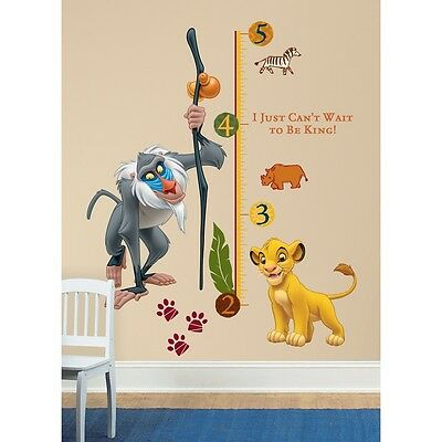 New LION KING GIANT WALL DECALS Kids GROWTH CHART Bedroom Decor Room Decorations
