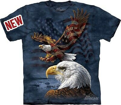 Eagle Flag Collage T-Shirt by The Mountain. USA American Patriotic S-5XL NEW
