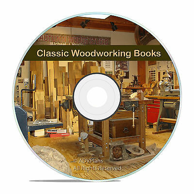 Classic Old Wood & WoodWorking Books, Carpentry, Lathe Turning, Finishing CD V10