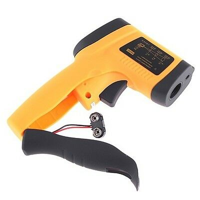 Clear Digital LCD Infrared Thermometer Non-Contact Gun Laser IR Point Temp.