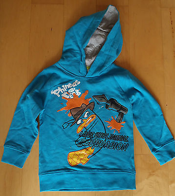 Awesome Disney PHINEAS FERB Hoody Top Age 3 4 5 6 7 8 Girls/Boys CLEARANCE SALE
