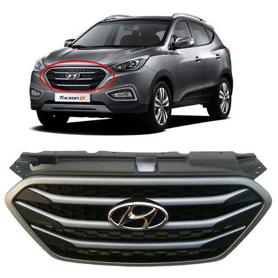 Hyundai OEM Parts Chrome Front Radiator Hood Grille (Fit: 2010-2014 Tucson IX35)