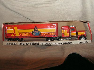 Ertl Peterbilt A-Team Agence Tout Risque 1/25 Made In Usa Tin Toy   Jouet Tole