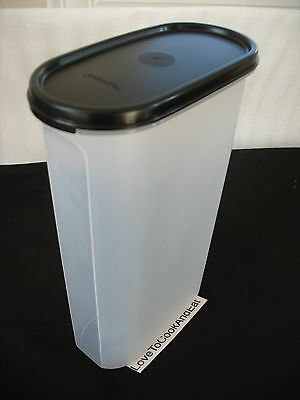 Tupperware Modular Mates OVAL Size 5 Black Or Red Seal New Pantry 12 1/4 Cup New