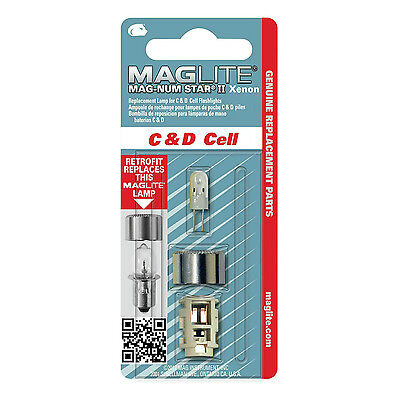 Maglite torch - Magnum Star II Xenon bulb D+C cell Maglites - single bulb pack