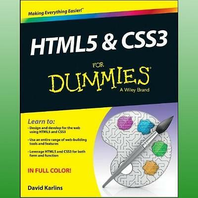 HTML5 and CSS3 For Dummies by Karlins David