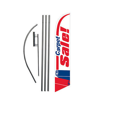 Carpet Sale (red/white/blue) 15' Feather Banner Swooper Flag Kit with pole+spike