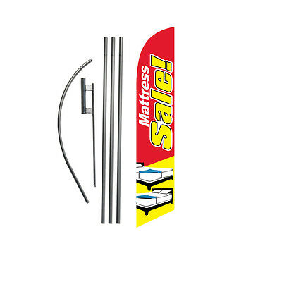 Mattress Sale (red/yellow) 15' Feather Banner Swooper Flag Kit with pole+spike