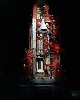 Gemini 4 Spacecraft Hoisted For Mating With Titan Launcher - 8X10 Photo (Aa-441)