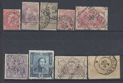 Belgium x 9 Old Stamps Very Nice Lot