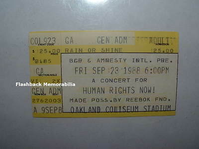PETER GABRIEL 1988 Concert Ticket Stub OAKLAND Sting SPRINGSTEEN Tracy Chapman