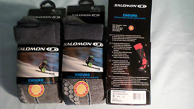 3 Pair Merino Wool Enduro Salomon Ski / Snowboarding Socks Multi Sports