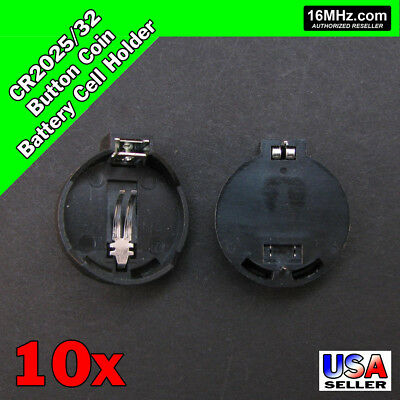 10x CR2025 CR2032 Button Coin Cell Battery Holder DIY Electronics 10pcs T17
