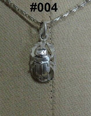 Hallmark Egyptian, Pharaonic, Authentic Silver Pendant , } Colored Scarabs