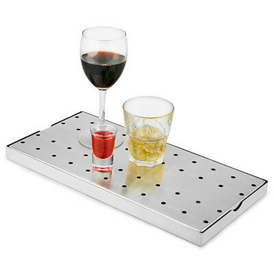 STAINLESS STEEL BAR DRIP TRAY FOR DRINKS IN BAR AREA BRAND-NEW 50cm x 18cm 2-PC