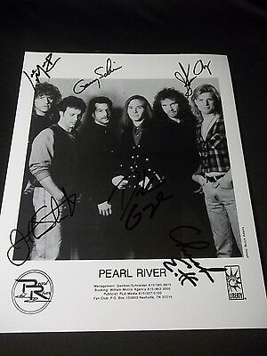 PEARL RIVER Signed BY ALL 6 MEMBERS AUTOGRAPHED 8X10 PHOTO COUNTRY MUSIC BAND