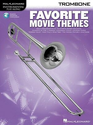 New Favourite Movie Themes for Trombone Music Book & CD