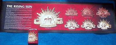 Rising Sun History Bar Runner - Rubber Backed Mat New Aussie