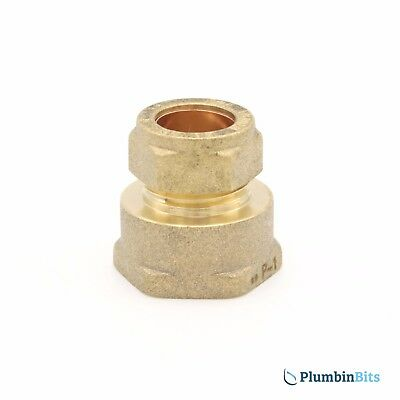 "Compression 15mm Copper to 3/4"" BSP Brass Female Iron Thread Connector Adapter"