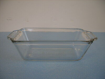 Anchor Hocking Clear Glass 1 1/2 Qt. Bread/loaf Pan