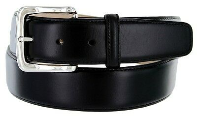 Valley View - Mens Designer Leather Dress Belt - Black