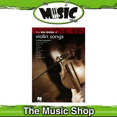 New The Big Book of Violin Songs Music Book - 130 Titles!