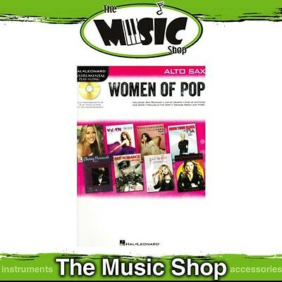 New Hal Leonard: Women of Pop for Alto Sax Music Book & CD - Saxophone