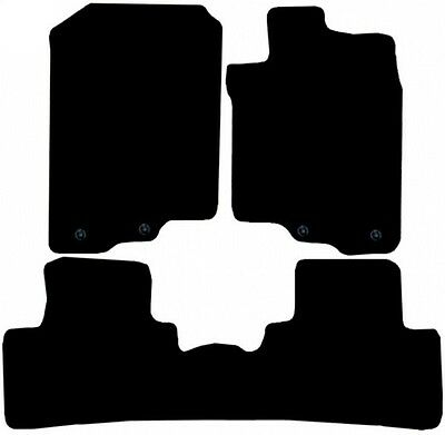 Honda Insight 2010 Onwards Black Tailored Fitted Car Mats Free Coloured Edging