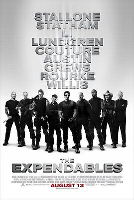 THE EXPENDABLES MOVIE POSTER 1 Sided ORIGINAL Ver B 27x40