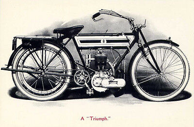 Early Triumph Motorcycle c.1900's≈illustration Photo Engraving≈Art POSTCARD 4x6