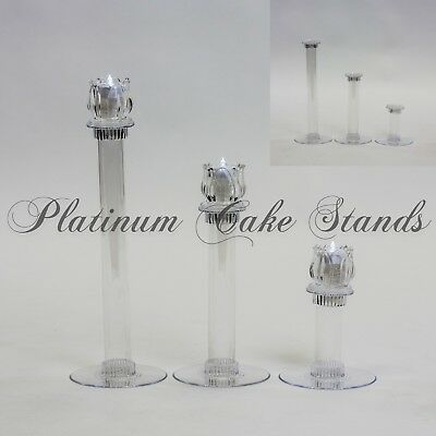 Cake Stand Glass Votive Candle Set 3 Tier Plate (STYLE V131)
